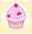 Cake with cherries vector image vector image