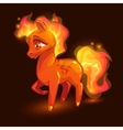 cartoon little fire horse vector image vector image