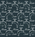 chalkboard ecology seamless pattern with save vector image vector image