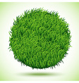 Circle Background Of Green Grass vector image