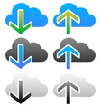 clouds with arrows upload download icons upload vector image