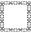decorative frame square shape black geometric vector image