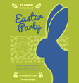 easter party poster or invitation design vector image vector image