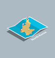 explore north korea maps with isometric style and vector image