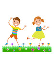 featuring dancing kids vector image vector image