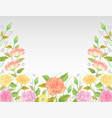 floral background and template decoration vector image vector image