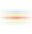 gear spectrum halftone array vector image vector image