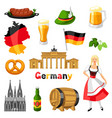 German icons set germany national traditional