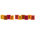 give thanks typography on overlapping colors vector image vector image