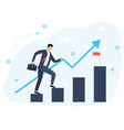 goal achievement and success concept vector image