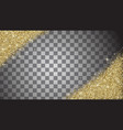 gold glitter abstract background vector image vector image