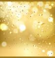 golden falling confetti vector image vector image