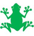 Green Frog Silhouette Logo vector image vector image