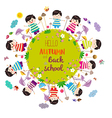Happy autumn and back to school Bright background vector image vector image