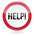 Help - problem glossy red sign vector image vector image