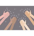 Human hands clapping ovation vector image vector image