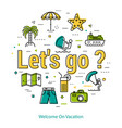 Lets go to vacation - round line concept