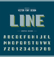 line font shadow and bold alphabet modern vector image vector image