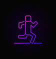 man running linear colorful icon vector image