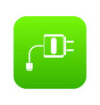 mini charger icon digital green vector image