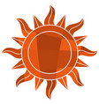 mosaic sun symbol vector image vector image