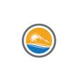 mountains logo template icon vector image