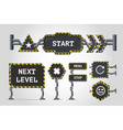 navigation signs metal user interface elements vector image