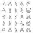 persons outline icons collection vector image vector image
