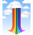 Rainbow arrow vector image