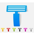 realistic design element razor vector image