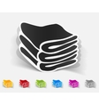 realistic design element towels vector image vector image