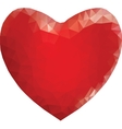 Red heart in low poly style vector image vector image