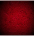 red texture with black vignette border vector image vector image