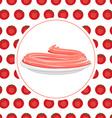 Red Tomato spaghetti against backdrop of a tomato vector image
