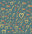 romantic seamless pattern with hearts bow boy vector image vector image