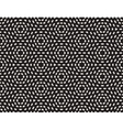 Seamless Black And White Hexagonal Dashed vector image