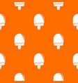semicircular ice cream pattern orange vector image vector image
