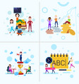 set diversity boy girl character concepts male vector image