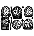 Set of electronic dartboards vector | Price: 1 Credit (USD $1)