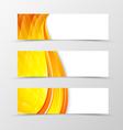 Set of header banner wave design vector image vector image