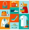 Shopping fashion design elements vector image vector image