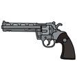 Silver long revolver vector image vector image
