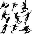 skater silhouettes vector image