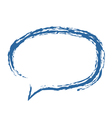Speech Bubble Brushed vector image vector image