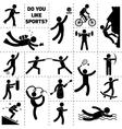 Sport Icon Black vector image vector image