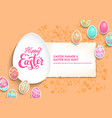 template card eggs vector image vector image