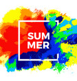 template color summer vector image