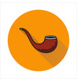 tobacco pipe simple icon on circle background vector image