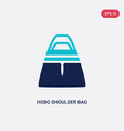 two color hobo shoulder bag icon from fashion vector image vector image
