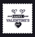 valentines day background with icon set pattern vector image
